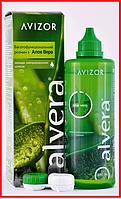 Раствор для линз Alvera 350 ml (Алвера), раствор с алое вера,  Avizor, фото 1