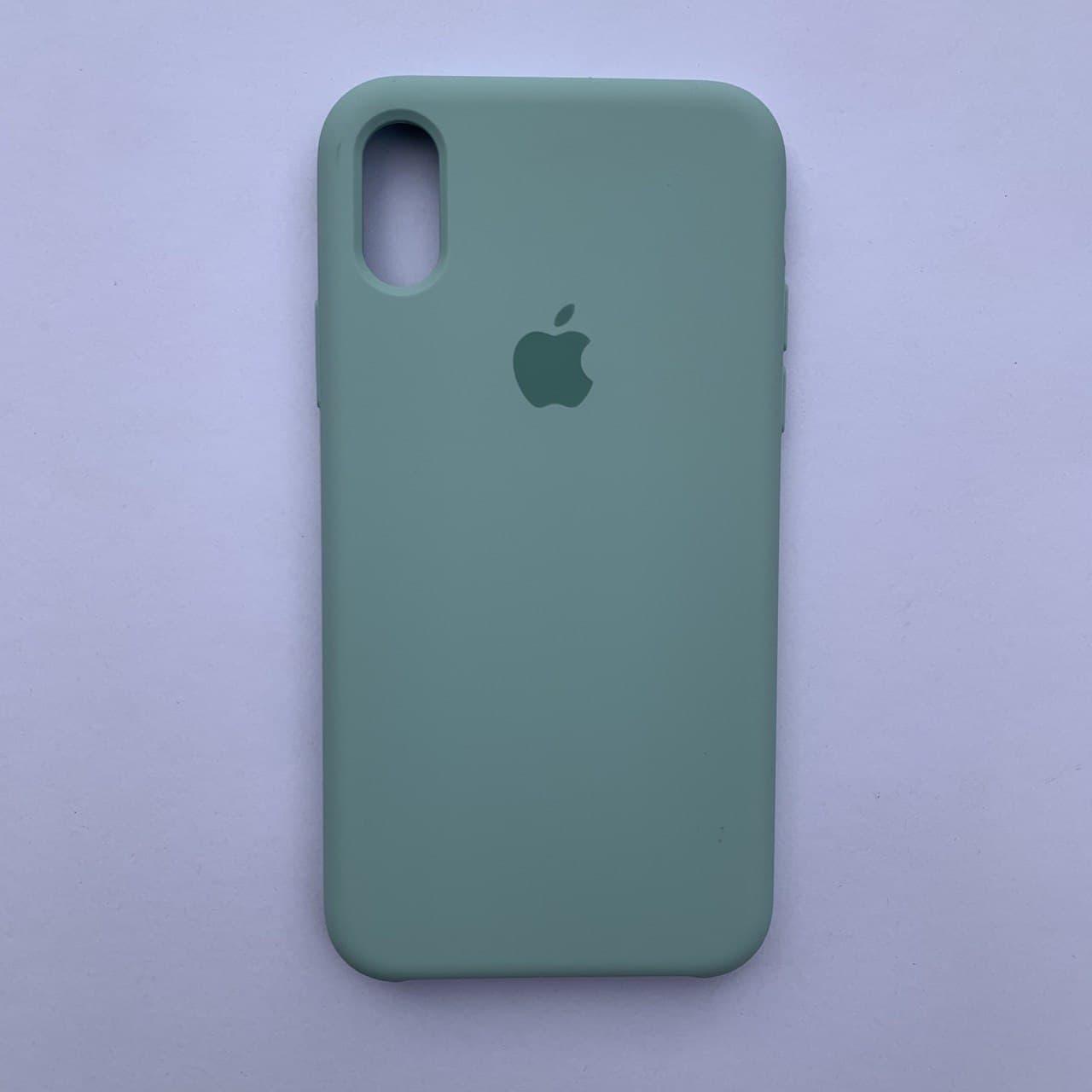 Чехол-накладка Silicone Case для Apple iPhone X iPhone XS Ice blue
