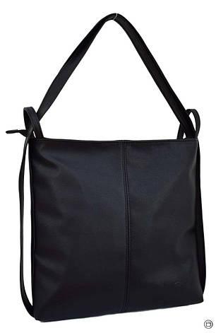 Женская сумка-рюкзак кожзам Case 433 черная, фото 2