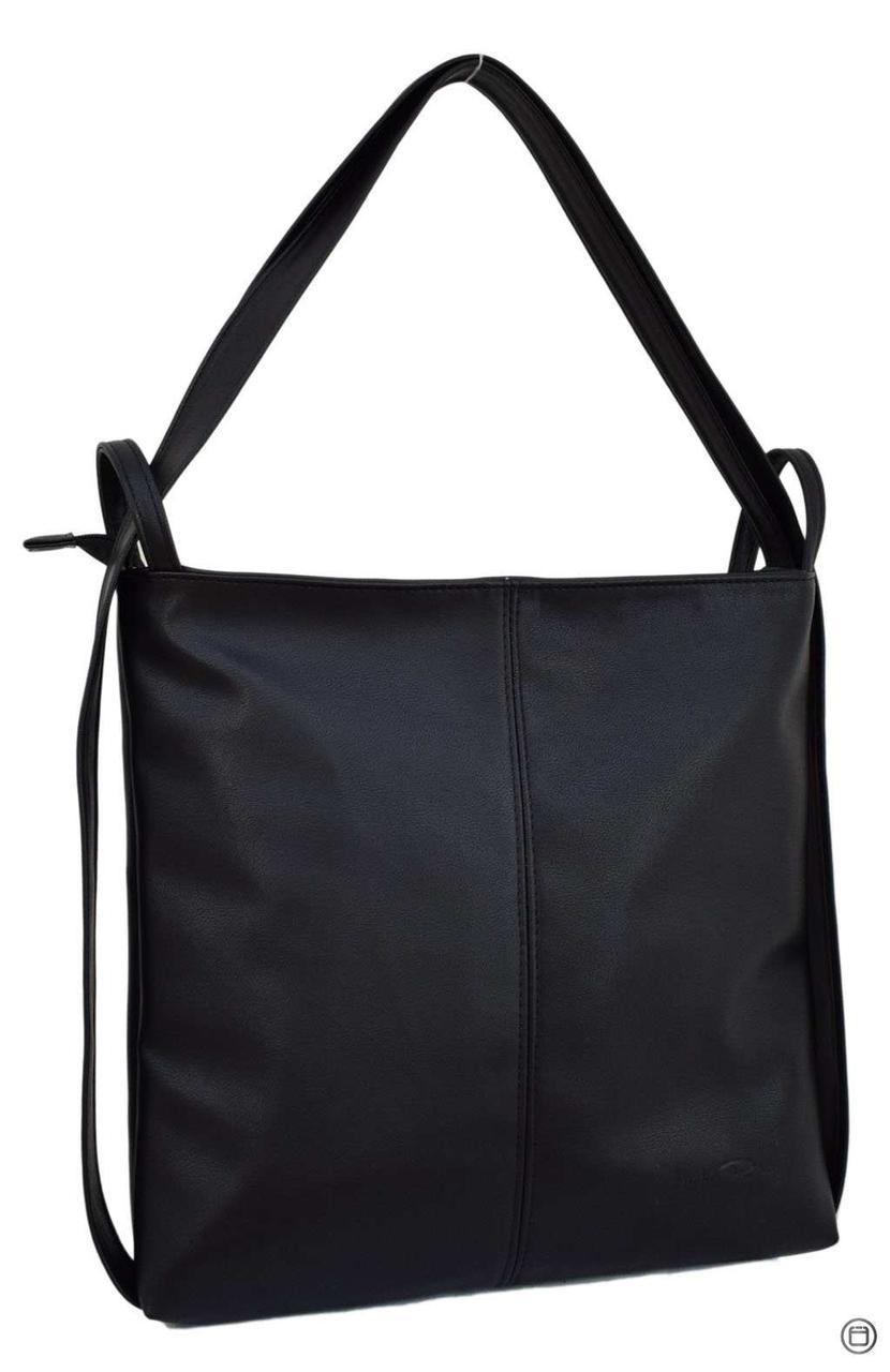 Женская сумка-рюкзак кожзам Case 433 черная