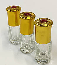 Стеклянный  пустой флакон - роллер для разливных  масляных духов 3 мл