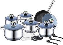 Набор посуды 18 предметов Bohmann BH-1800-MRB