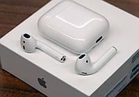 Наушники Apple AirPods 2 Bleutooth Гарнитура Безпровідні навушники. Аирподс. Эпл Аирподц.