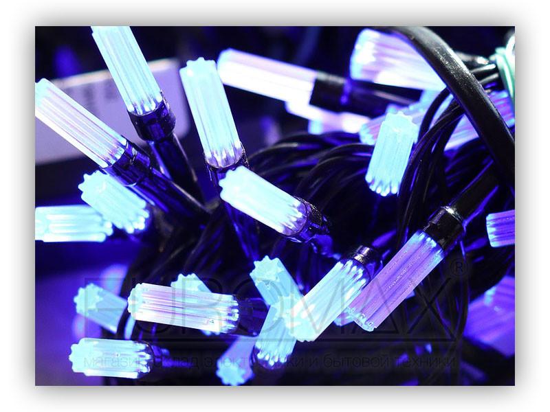 Гирлянда черный провод матовая гексагональная лампа 100LED (теплый белый) 100шт LED100WW-5