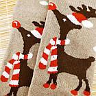 Носки женские махровые новогодние высокие Добра Пара 23-25р олень ассорти 20038946, фото 3