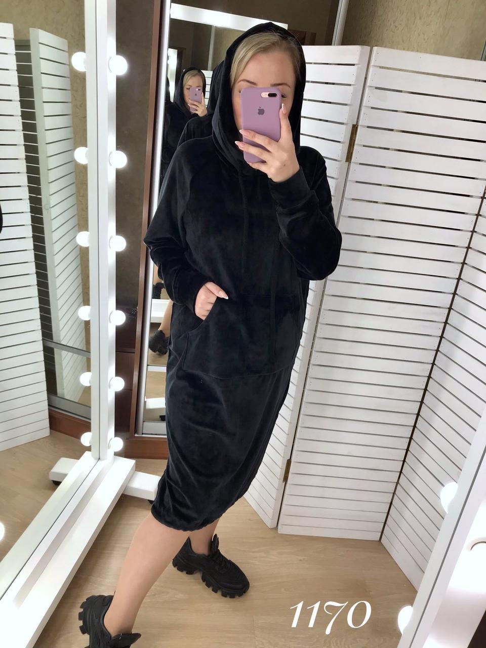 "Платье женское велюр Батал (52-60) ""Gabriela"" LM-1037-1046"