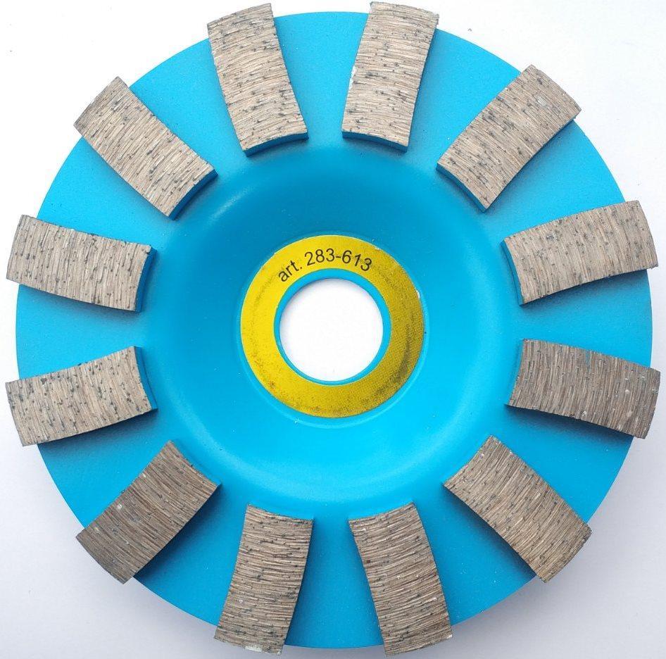 """613 Диск алмазна шліфувальний для камня, бетона """"turbo direct"""" 125*22.2mm"""