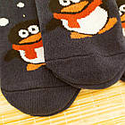 Носки женские махровые новогодние высокие Добра Пара 23-25р пингвин тёмно-синие 20039004, фото 2