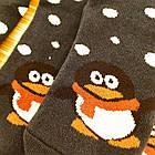 Носки женские махровые новогодние высокие Добра Пара 23-25р пингвин тёмно-синие 20039004, фото 5