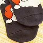 Носки женские махровые новогодние высокие Добра Пара 23-25р дед мороз тёмно-синие 20038977, фото 5