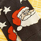 Носки женские махровые новогодние высокие Добра Пара 23-25р дед мороз тёмно-синие 20038977, фото 4