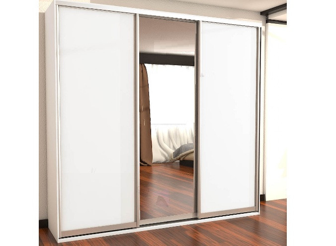 Шкаф купе СТАНДАРТ 230х240х60 см белый (Феникс Мебель)