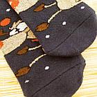 Носки женские махровые новогодние высокие Добра Пара 23-25р олень тёмно-синие 20038915, фото 2