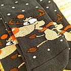 Носки женские махровые новогодние высокие Добра Пара 23-25р олень тёмно-синие 20038915, фото 4