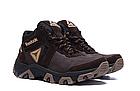 Ботинки зимние мужские кожаные Reebok Crossfit Brown (реплика), фото 6