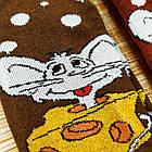 Носки женские махровые новогодние высокие Добра Пара 23-25р мышка ассорти 20038939, фото 4