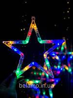 """Новорічна гірлянда-прикрасу у вигляді зірки """"Різнокольорова зірка"""". Ціна за 1 зірку"""