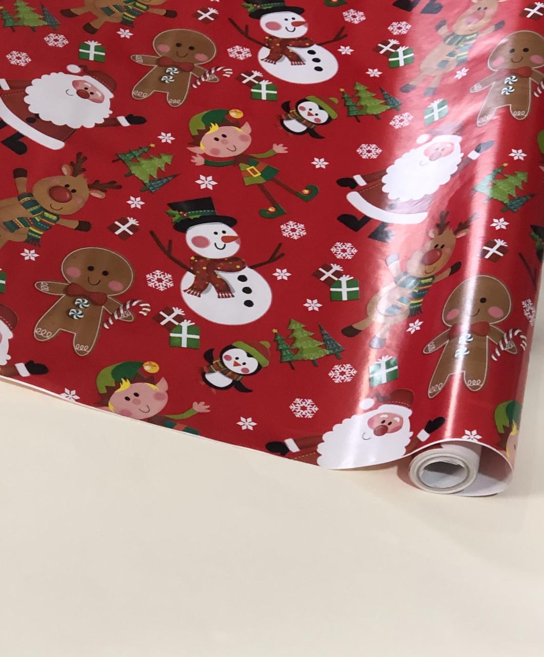 Новогодняя бумага в рулоне 10 метров, арт 11