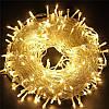 Новогодняя cветодиодная гирлянда нить LED 300 лампочек: длина 16м (теплый белый цвет)