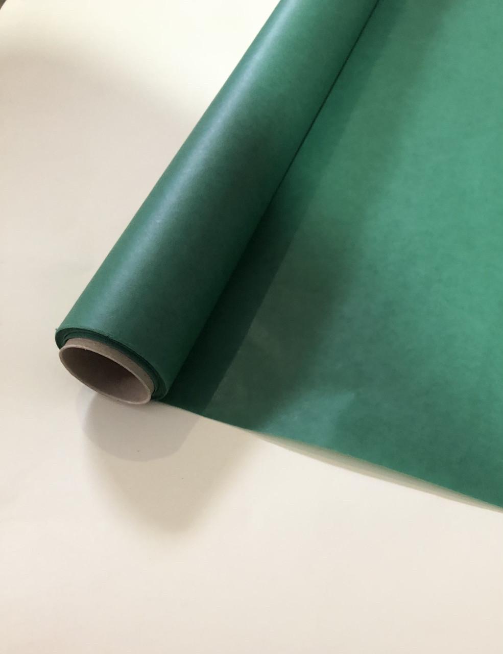 Бумага тишью в рулоне плотная  зеленая