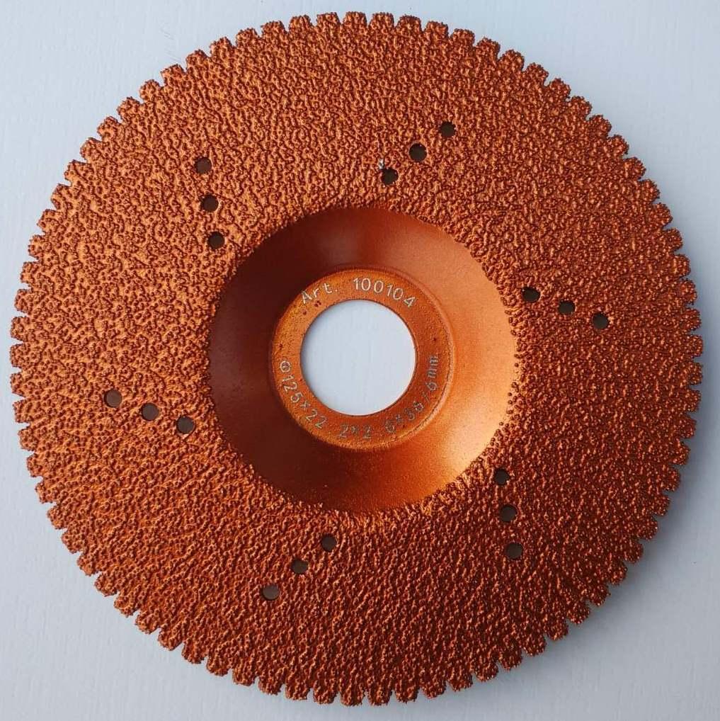 104 Диск алмазний Craft вакумний з вигнутим корпусом 125*22.2*1.4*36/6мм мокре сухе різання та шліф. граніту