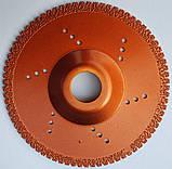 104 Диск алмазний Craft вакумний з вигнутим корпусом 125*22.2*1.4*36/6мм мокре сухе різання та шліф. граніту, фото 2