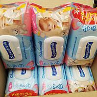 Влажные салфетки для детей и мам Ромашка с клапаном Superfresh 120шт в ассортименте / серветки суперфреш