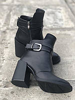 Ботильоны ботинки весенние женские из натуральной кожи на удобном высоком каблуке 40 размер M.KraFVT 8065 2021