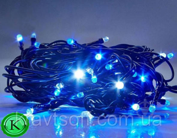 Светодиодная гирлянда 100,200,300,400,500 LED , синяя