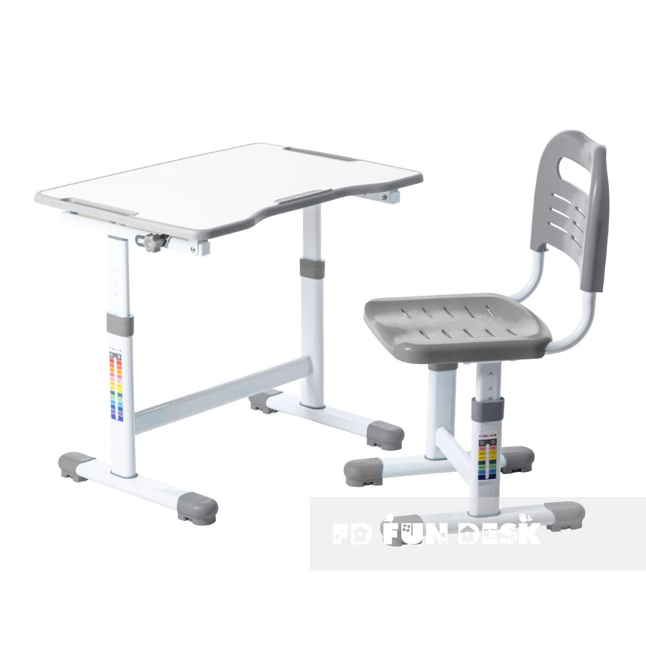 Комплект парта и стул-трансформеры FunDesk Sole II Grey-s