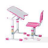 Комплект парта і стілець-трансформери FunDesk Sole II Pink-s, фото 3