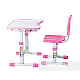 Комплект парта і стілець-трансформери FunDesk Sole II Pink-s, фото 4