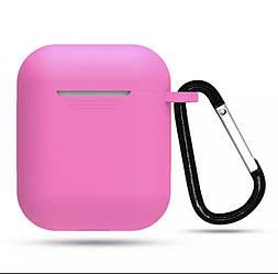 Силиконовый Чехол для наушников AirPods, розовый