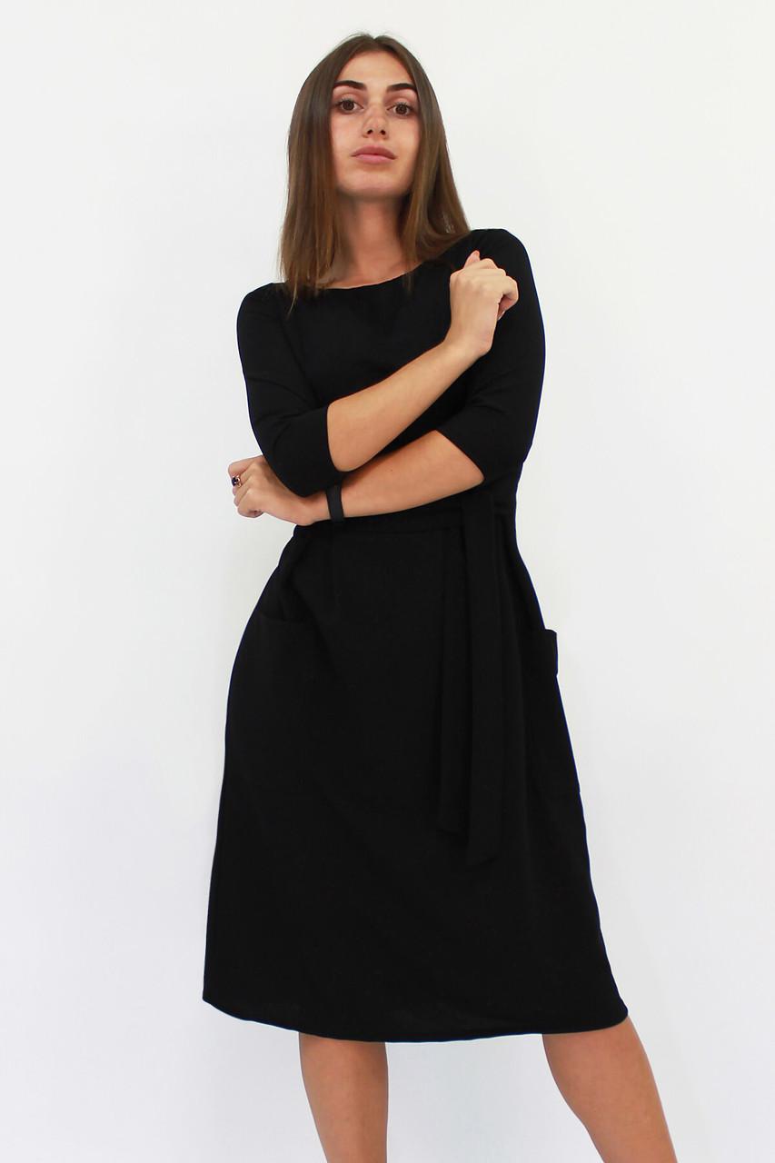 Классическое платье-миди Tirend, черный