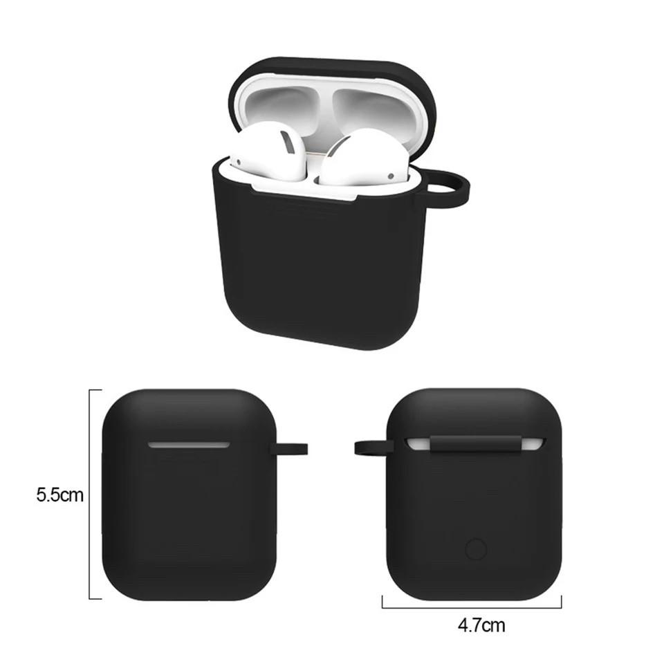 Чехол  для наушников AirPods силиконовый черный