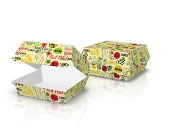 Картонная упаковка для бургеров