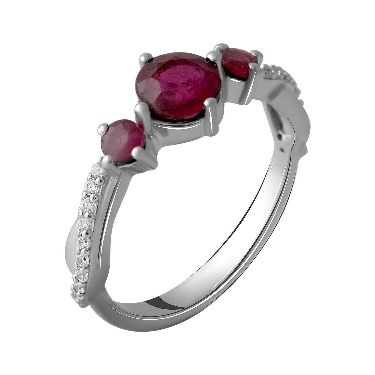 Серебряное кольцо pSilverAlex с натуральным рубином 1.97ct (2057864) 18 размер