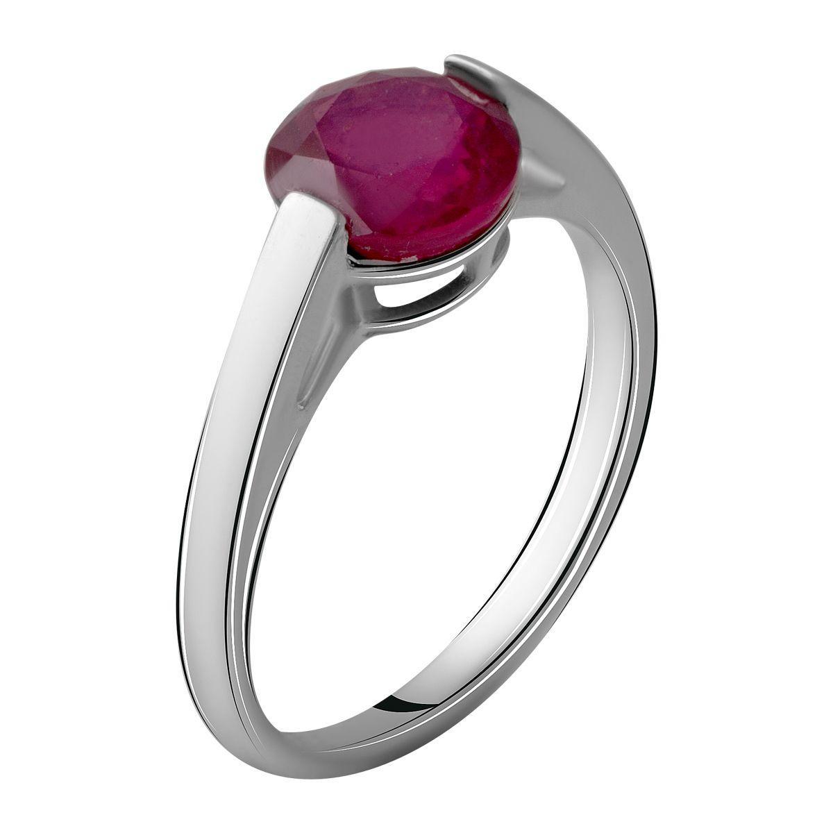 Серебряное кольцо pSilverAlex с натуральным рубином 2.992ct (2058069) 18.5 размер