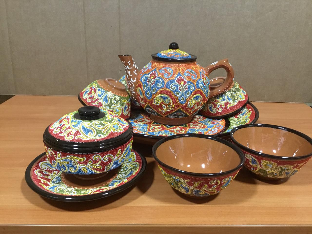 Чайный керамический сервиз на 6 персон