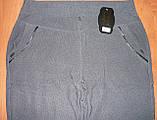 """Штаны женские """"Натали"""" на меху. Батал. р. 10XL. Полоса. Темно-синие, фото 4"""
