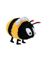 Мягкая игрушка Алина Пчелка 33 см черно-желтая