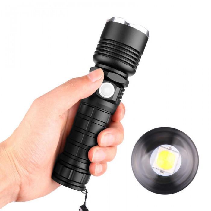 Потужний ручний акумуляторний ліхтар BL-515-P50 ліхтарик 1500 Lumen