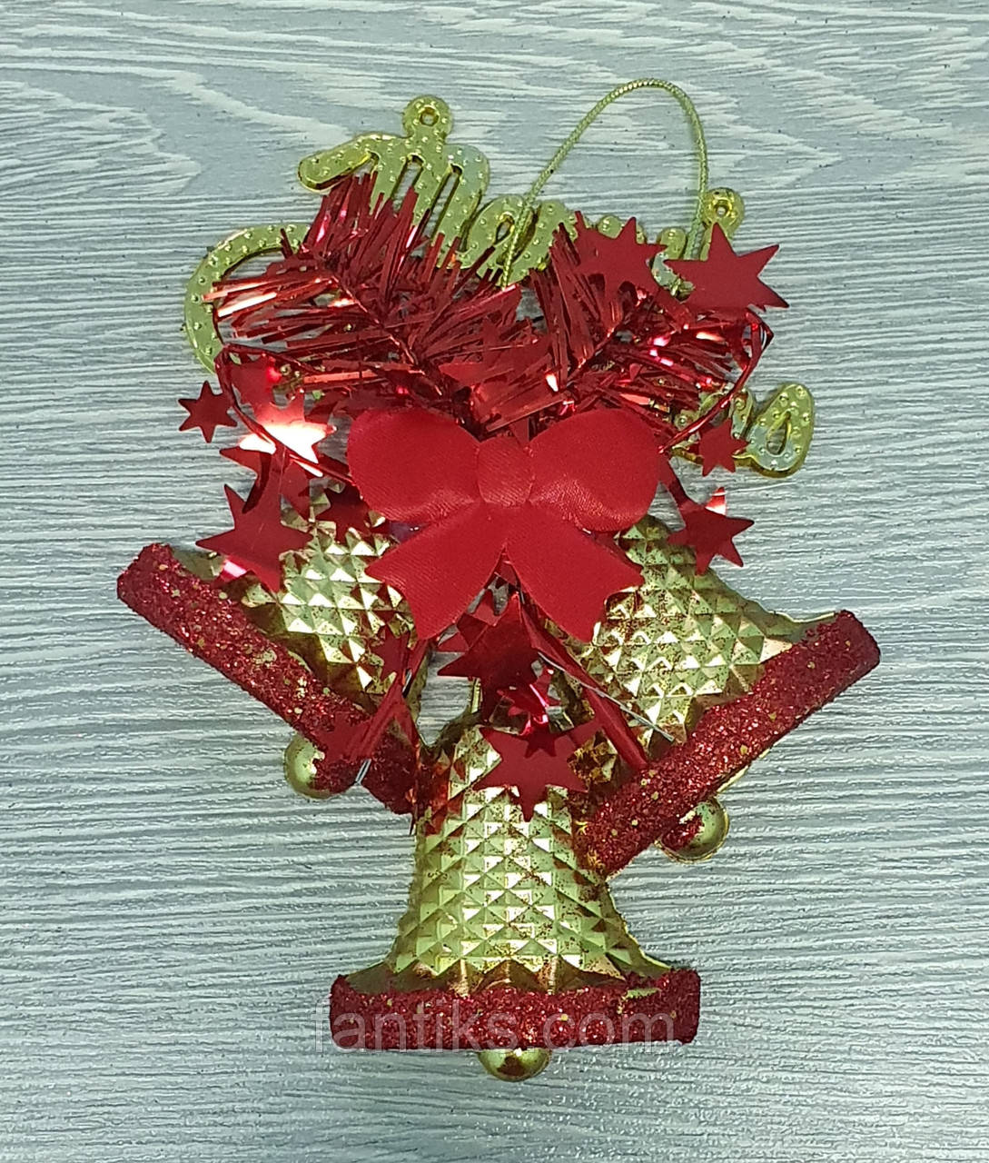 """Новогоднее украшение -подвеска """"Колокольчики"""" Merry Christmas 15 cм х 11,5 см"""