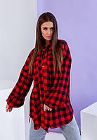 Женская рубашка  в клетку, фото 1