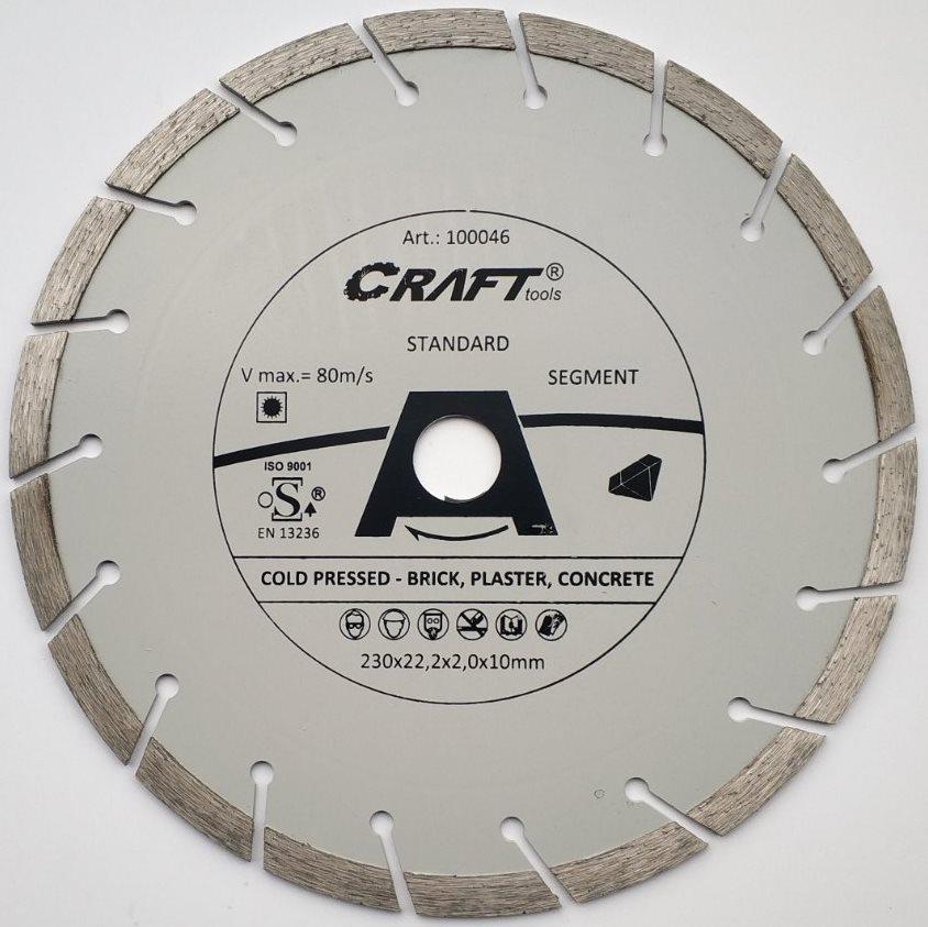 """046 Диск Craft відрізний алмазний """"segment"""" 230*22,2*2,4*10мм"""