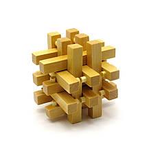 Деревянная головоломка пазл Решетка 6х6х6 (7,5х7,5х7,5 см)