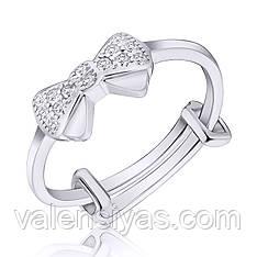 Серебряное кольцо Бантик