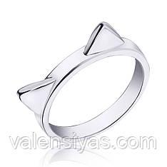 Кольцо серебряное Ушки