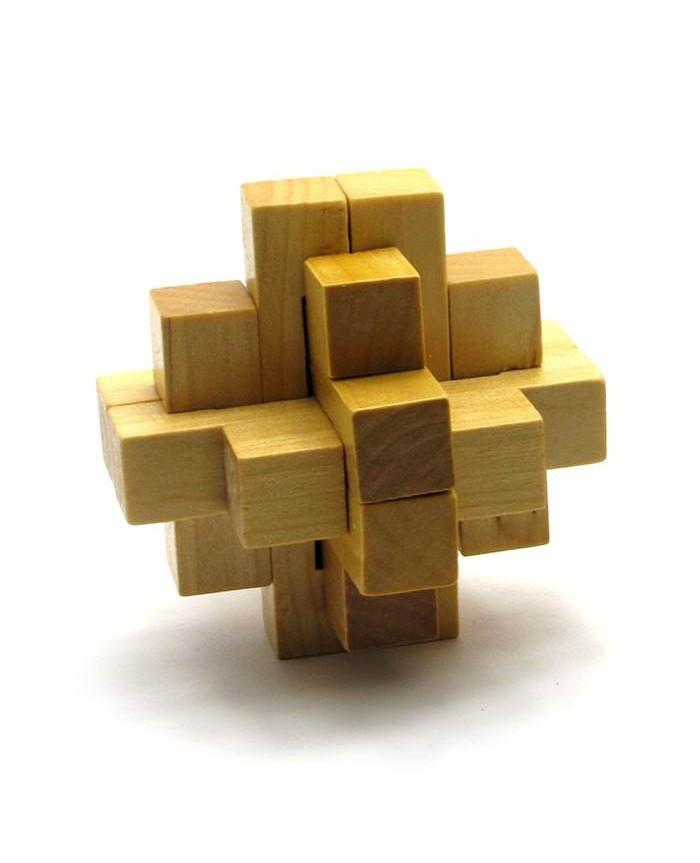 Деревянная головоломка пазл Крестообразная 2х2х2 (7х7х7 см)