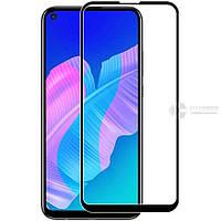 Закаленное защитное 5D стекло ПОЛНАЯ ПРОКЛЕЙКА (на весь экран) для Huawei Y7p (2020) (Черное)